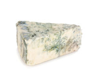 Miękki błękitny ser kawałek Obrazy Stock