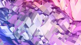Miękki geometryczny niski poli- ruchu tło z czystymi błękitnej czerwieni wielobokami Abstrakcjonistyczna prosta błękitnej czerwie ilustracja wektor