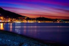Miękki I Piękny wyspa zmierzch Fotografia Stock