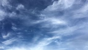 Miękki lato Skyscape Chmurnieje Timelapse zdjęcie wideo
