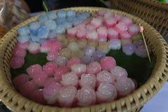 Miękki ostrości jedzenie Tajlandia i desery Obraz Royalty Free