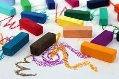 Miękki pastel dla artystów zdjęcie royalty free