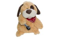 Miękki pluszowy zabawkarskiego psa beż Fotografia Stock