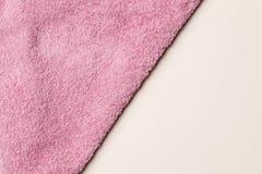 Miękki Terry menchii ręcznik jako tło obrazy stock