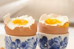 miękkie przegotowanej jajeczna zdjęcia stock