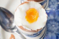 miękkie przegotowanej jajeczna obraz royalty free