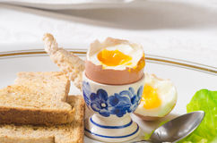 miękkie przegotowanej jajeczna fotografia royalty free