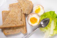 miękkie przegotowanej jajeczna obrazy stock
