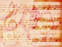 Miękkiego grunge muzyczny tło z pianinem ilustracja wektor