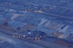 Miękkiego węgla otwarta powlekaczka - lany górniczy Hambach - (Niemcy) Fotografia Royalty Free