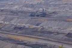 Miękkiego węgla otwarta powlekaczka - lany górniczy Hambach - (Niemcy) Fotografia Stock