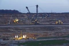 Miękkiego węgla otwarty Obrotowy ekskawator - lany górniczy Hambach - (Niemcy) Fotografia Stock