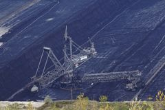 Miękkiego węgla otwarty Obrotowy ekskawator - lany górniczy Hambach - (Niemcy) Zdjęcie Royalty Free
