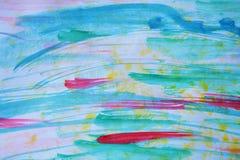 Miękkiej błękitnej czerwieni akwareli abstrakcjonistyczny niebo lubi tło Obrazy Stock