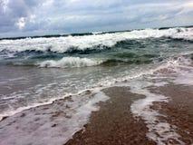 Miękkiej części fala Błękitny ocean Zdjęcie Stock