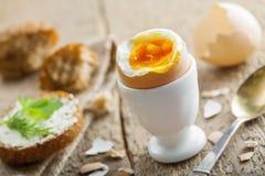Miękkiej części gotowany jajeczny śniadanie Zdjęcia Royalty Free