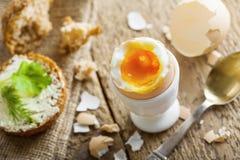 Miękkiej części gotowany jajeczny śniadanie Obraz Royalty Free