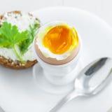 Miękkiej części gotowany jajeczny śniadanie Obraz Stock