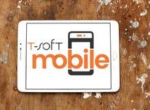 miękkiej części oprogramowania Mobilny logo Zdjęcia Royalty Free
