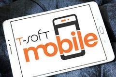 miękkiej części oprogramowania Mobilny logo Zdjęcie Stock