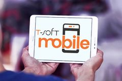miękkiej części oprogramowania Mobilny logo Zdjęcia Stock