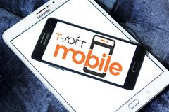 miękkiej części oprogramowania Mobilny logo Obraz Stock