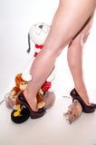 Miękkiej części zabawka z ja Zdjęcia Stock