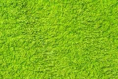 Miękkiej części zielona tekstura naturalna bawełna. włókna tło Obraz Stock