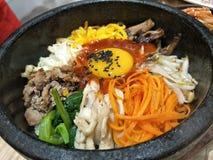 miękkiej ostrości Koreański jedzenie & x22; Bibimbap& x22; Obraz Royalty Free