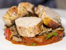 Mięsa - gwinei ptactwo Ballotine zdjęcie stock