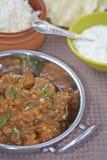 Mięsa i soczewicy Balti naczynie fotografia stock
