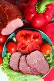 Mięsa i warzyw wciąż życie Obrazy Royalty Free