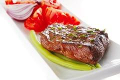 mięsa pieczeń słuzyć pomidor Fotografia Stock