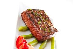 mięsa pieczeń słuzyć pomidor Zdjęcie Stock