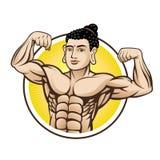 Mięsień Buddha ilustracja wektor