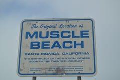 Mięsień plaża W Snata Monica Arnold Schwarzenegger Tutaj trenował Lipiec 04, 2017 Podróży architektury sport Obraz Stock