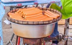 Mięsna piłka Dekatyzował na piekarniku w Tajlandzkim stylu Obrazy Royalty Free