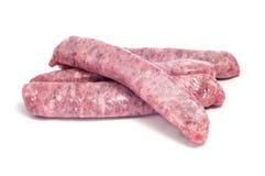 mięsnej wieprzowiny surowe kiełbasy Zdjęcie Stock
