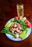 Mięsny kheo od kurczaków z zielonymi grochami i warzywami zdjęcia stock