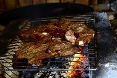 Mięsny prażak na grillu zdjęcie royalty free