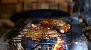 Mięsny prażak na grillu obrazy stock