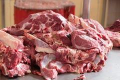 Mięso dla sprzedaży przy rynkiem Obrazy Stock