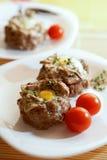 mięso jajka mięso Zdjęcia Royalty Free