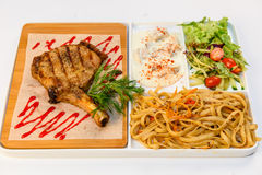 Mięso kotleciki z piec na grillu ziobro fotografia stock