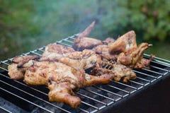Mięso na grillu obrazy stock