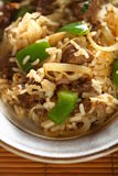 mięso pepper ryżu Fotografia Royalty Free