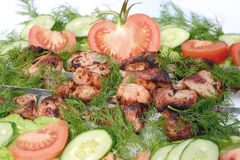 Mięso piec na węglach Obrazy Stock