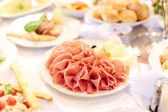 Mięso plasterki Zdjęcia Stock