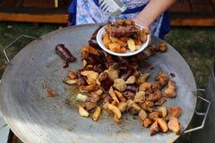mięso składa wieprzowin kiełbasy obrazy stock