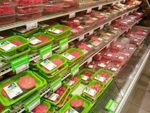 Mięso w supermarkecie zdjęcie stock